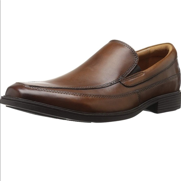 Clarks Of England Men/'s Tilden Free Black Leather Leather loafers-shoes